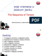 Slaganje vremena u Engleskom jeziku