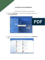 Crear Una LAN en Windows1 XP y 7