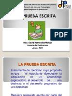 Prueba Escrita 2011