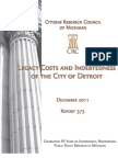 201112 CRC Legacy Costs and Indebtedness of the City of Detroit Rpt373