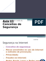 Internet - Aula 03 - Conceitos de Segurança