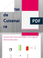 Suma de Fracciones Con Las Regletas de Cuisenaire