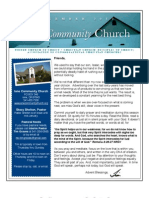Newsletter of Ione Community Church - December 2012