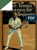 Lawn Tennis Lesson 00 p Are
