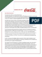 Coca-cola Shareholder Letter