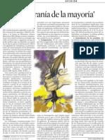 Ferran Requejo. TC y La Tiranía de La Mayoría