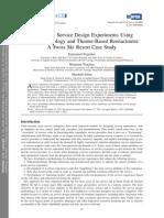 Performing Service Design Experiments