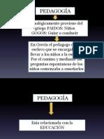 Pedagogia Clase 1