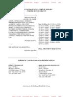 Arg9 NML Capital v Argentina 2012-11-27 Exchange Bondholders Motion to Stay