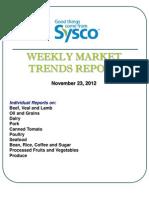 Weekly Market Trends Report 11/23/2012