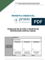 ESTANDAR TRABAJOS EN ALTURA Y EQUIPOS DE PROTECCION CONTRA CAÍDAS-CUAJONE