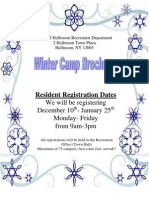 2013 Winter Camp Brochure and Registration Packet