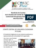 COVIC Rendición de Cuentas Puno Mar 2012
