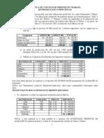 Practica de Costos Por Ordenes de Trabajo de Produccion o Especificas