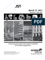 Olympus 2011 Price List