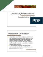 urbanização processo