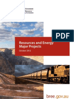 BREE Resources and Energy Major Projects Report - October 2012