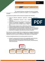 Organización por departamentos