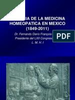 Historia de La Homeopatia en Mexico