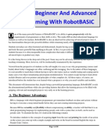 Teaching Programming With Robot Basic