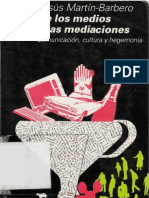 Martín Barbero, Jesús - De los medios a las mediaciones
