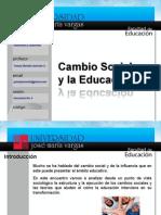 Cambio Social y Educacion