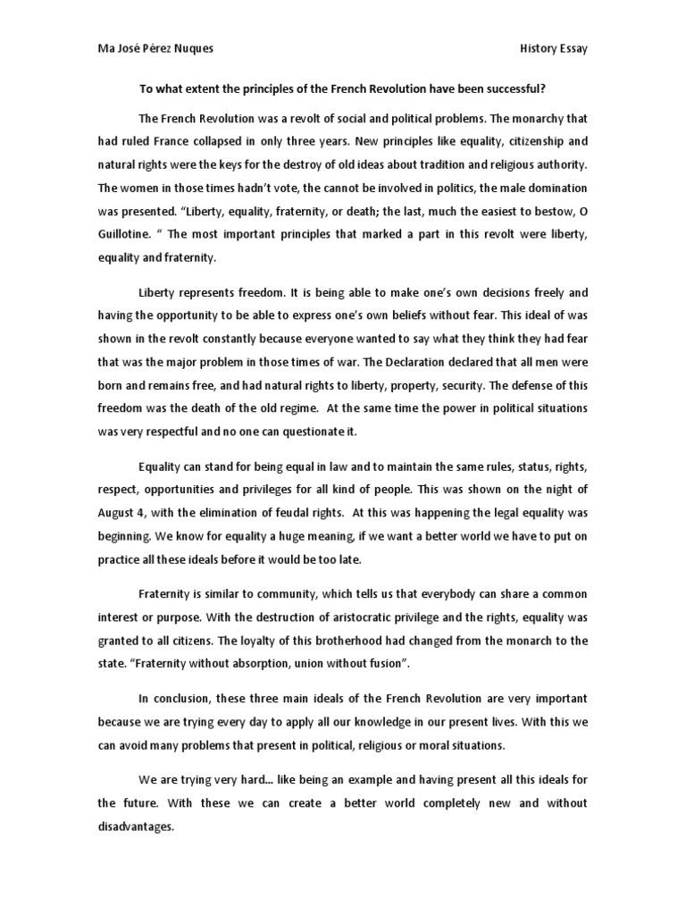 Essay french revolution french revolution 49 views