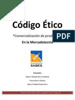 Código Ético de Mercadotecnia sobre la Comercialización de Productos