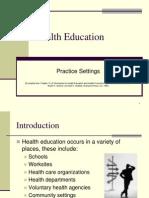 Health Education Settings
