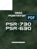 UserManual-YamahaPSR630