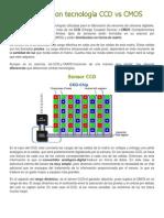 Sensores con tecnología CCD vs CMOS