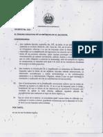 Decreto Ejecutivo No 216 TABLAS de RETENCION Ultima Version