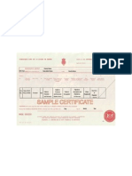England (Uk) Birth Certificate Sample