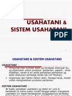 Usahatani & Sistem Usahatani