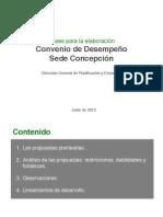 Análisis de propuestas Sede Concepción