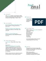 zinal patel | interface design | resume