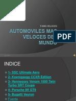 Automoviles Mas Veloces Del Mundo