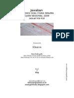 Jawaban Prediksi UN 2009 Fisika 10-11