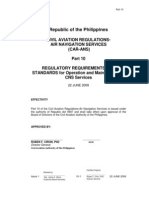 Carans Part 10 Regulatory Requirements as Standards for Operation and Maintenance of Cns Services for Printing_with Signature