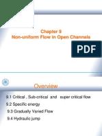 Ch9 Non-Uniform Flow in Open Channels
