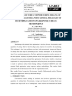 Optimization of Surface Finish During Milling of Hardened Aisi4340 Steel With Minimal Pulsed Jet of Fluid Application Using Response Surface Methodology_norestriction