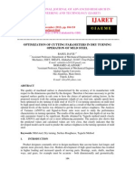 Optimization of Cutting Parameters in Dry Turning Operation of Mild Steel