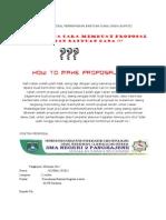 Contoh Proposal Permohonan Bantuan Dana