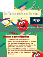 Attributes of a Peace Educator