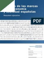 """Resumen Ejecutivo sobre """"Impacto de las marcas en la economía y sociedad españolas"""""""