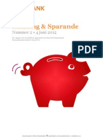 SBAB Bank Inlåning & Sparande #2/2012