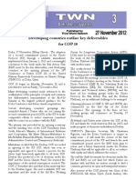 Developing countries o utline key deliverables for COP 18