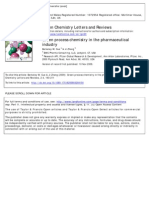 Green Process Chemistry in the Pharmaceutical