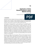 InTech-Application of Finite Element Analysis in Sheet Material Joining