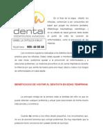 Importancia de Ir Al Dentista.